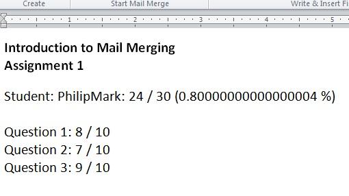 numbers mail merge